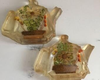 Acrylic Pressed Flower Tea Bag Holder