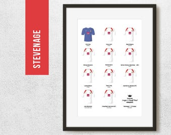 Stevenage 2011 League 2 Play Off Winners Team Print, Football Poster, Football Gift, FREE UK Delivery