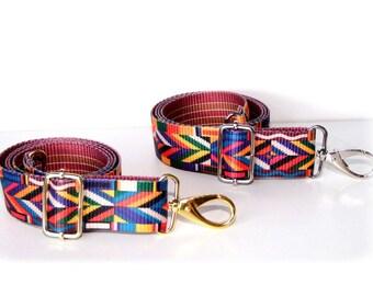 Replacement purse strap, strap colorful aztec