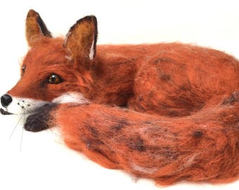 Needle Felted Fox OOAK