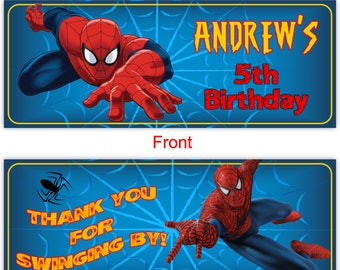 Spiderman Candy Bag Topper, Spiderman Goody Bag Topper, Spiderman Thank You, Spiderman Birthday -TOPPER14