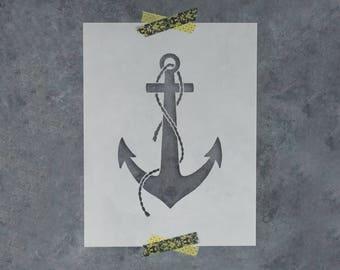 Anchor Stencil - Reusable DIY Craft Stencils of a Boat Anchor
