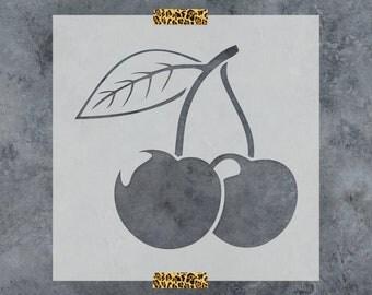 Cherry Stencil - Reusable DIY Craft Stencils of Cherries