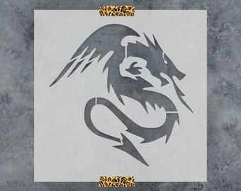 Dragon Stencil - Reusable DIY Craft Stencils of a Dragon
