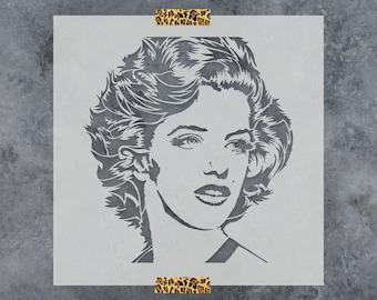 Marilyn Monroe Stencil - Reusable DIY Craft Stencils of Marilyn Monroe - Celebrity Stencil Art