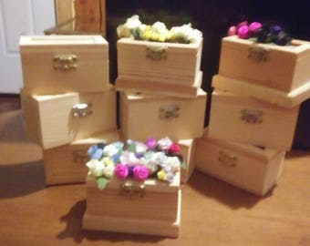 Unfinished Wooden Jewelry Boxes.
