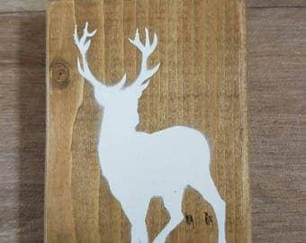 Stag Deer Christmas Festive Sign