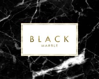 Designer Black  Marble and Gold Premade Logo Design, Custom logo, Fashion logo, Boutique logo, Luxury logo, Fancy logo, Glitter logo