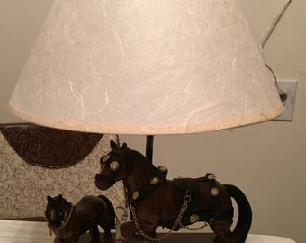 Vintage 1960s Budweiser Lamp Clydesdale Horses Budweiser Style