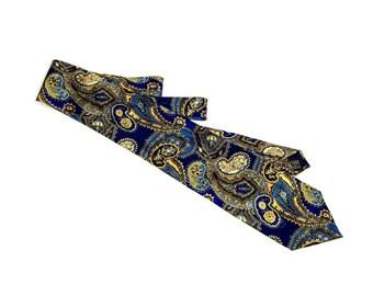 Vintage Necktie, Modena Silk Tie, Silk Necktie, Vintage Tie, Vintage Silk Necktie, Modena Pattern Necktie, Blue Tie,