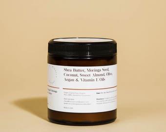 Moringa Seed Oil, 100% Vegan, All Natural, Organic, Non-GMO, Handmade, Whipped Body Butter