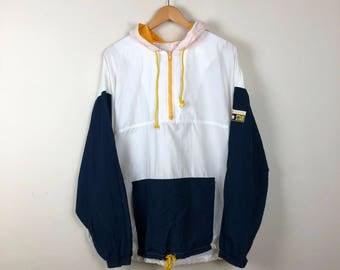 Vintage CONVERSE Jacket, Color Block Jacket, White Track Jacket