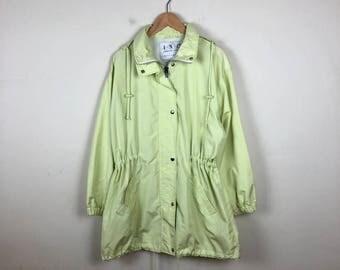 Vintage Light Green Jacket Size Medium, Lime Green Jacket