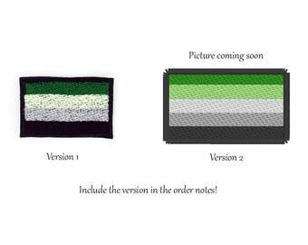 Aromantic Pride Flag Patch, Aromantic Pride Flag Patch, Iron on Patch, Sew on Patch, Aromantic Pride Flag Pin, Aro Pride