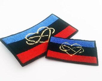Polyamory Flag Patch, polyamory flag pride flag, Pride Flag, Sew on Patch, Pride Flag Pin