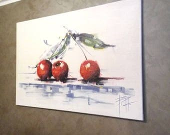 Cherry Abstract Painting