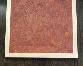 Bow Tie End grain cutting board