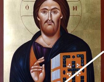 Christ Pantocrator (Sinai), Christian orthodox icon, original hagiography, hand painted on request, Χριστός Παντοκράτωρ του Σινά, αγιογραφία