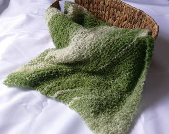 Soft & Snuggly Green Baby Blanket