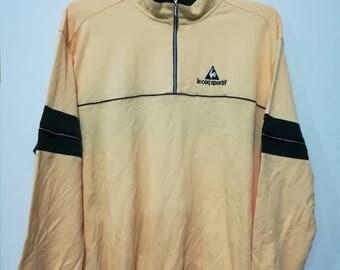 Rare Le coq sportif sweatshirt half zipper L size