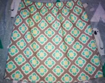 HANDMADE girls Geometric pattern skirt size 10