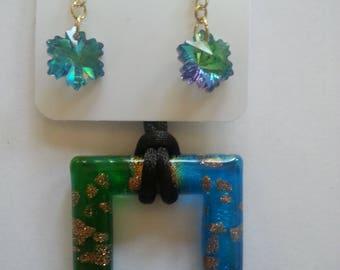 Blue Greenish Glass Jewelry