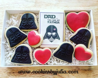 Father's day Cookies/custom cookies/gifts/fathers day gift/star wars cookie/designed cookies/star wars/father's day/father's day gift/