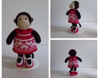 Knitted Girl Monkey