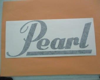 PEARL Drums Vinyl Sticker in Black