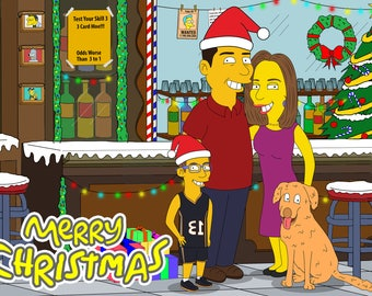 Christmas Card, Christmas Decoration, Christmas Ornament, Personalized, Custom, Christmas Artwork, Christmas Poster, Christmas Décor