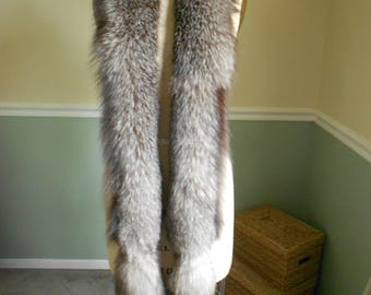 Fox Fur Scarf / Large Collar / Boa Wrap / Stole Shawl