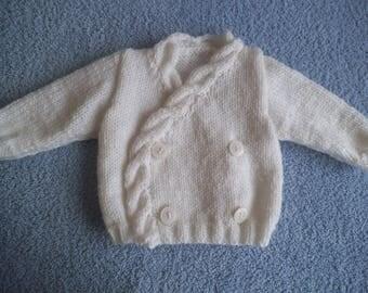 White baby vest twisted edge