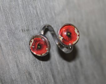 """Ring double cabochons """"Poppies"""""""