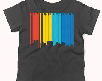 Retro 1970's Style Fort Lauderdale Florida Skyline Infant / Toddler T-Shirt