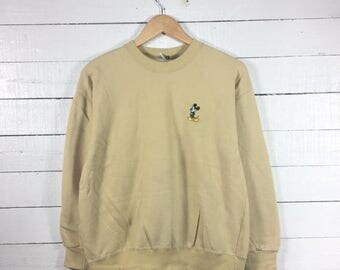 On sale 20% Rare!! MICKEY MOUSE Crewneck Small Logo Sweatshirt