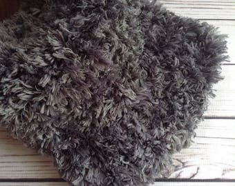 faux fur rug gray etsy. Black Bedroom Furniture Sets. Home Design Ideas