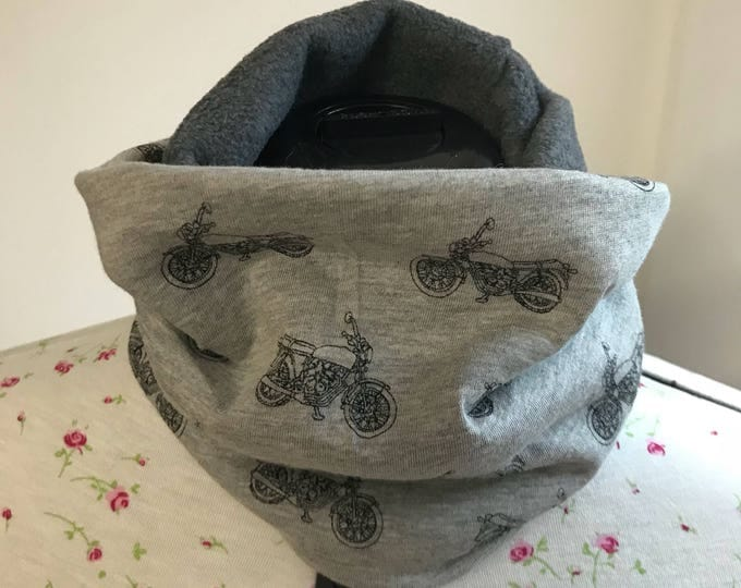 Neck warmer, fleece lined, stretch jersey, neck cosy, cowl, snood, scarf, buff, boys, stocking filler