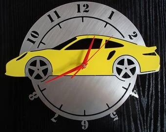 Wall clock Porsche 911 sports car stainless steel Mural art watch design wall clock sports car