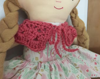 Made to order - Crochet Doll Collar dolly accessories
