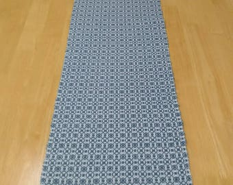 Handwoven Overshot Table Runner