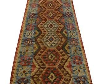 35% OFF Final sale Stunning Handwoven Afghan Chobi kilim runner /100 Percent wool