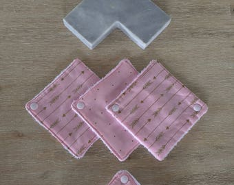 Mini dribble cloth set with clip (12cm x 12cm)