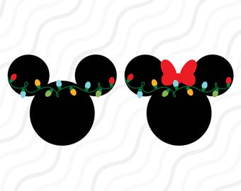 Christmas Light Mickey SVG, Christmas Light SVG Cut table Design,svg,dxf,png Use With Silhouette Studio & Cricut_Instant Download