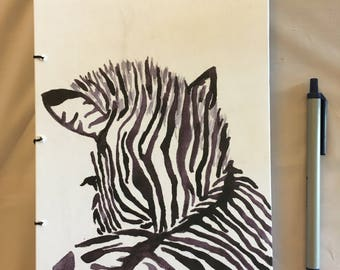Handmade Zebra Notebook