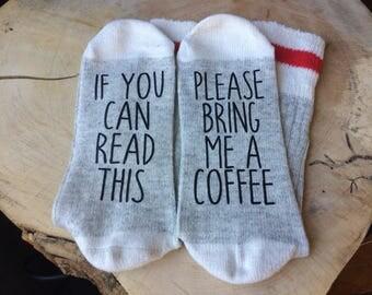 BRING ME A COFFEE Socks
