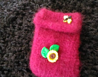 Tissue holder, handmade, felted