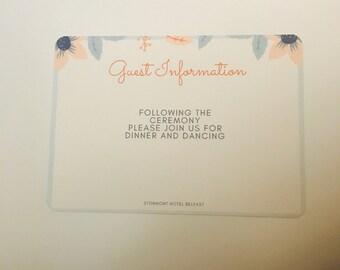 Pastel Blooms Enclosure Cards