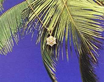 Diamond Pendant, 14KT Yellow Gold Diamonds Pendant, P5395