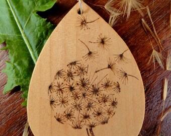 Dandelion flower pendant