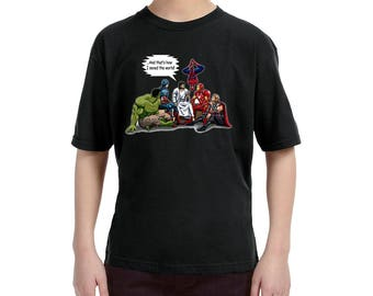Jesus Superheros and That's How I Saved The World Christian T-Shirt (Youth sizes XS-XL)
